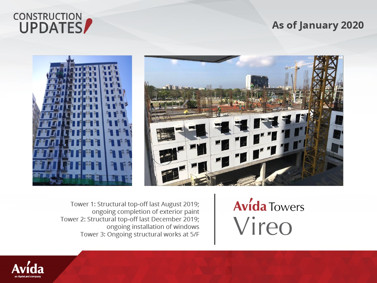 Construction Update as of January 2020