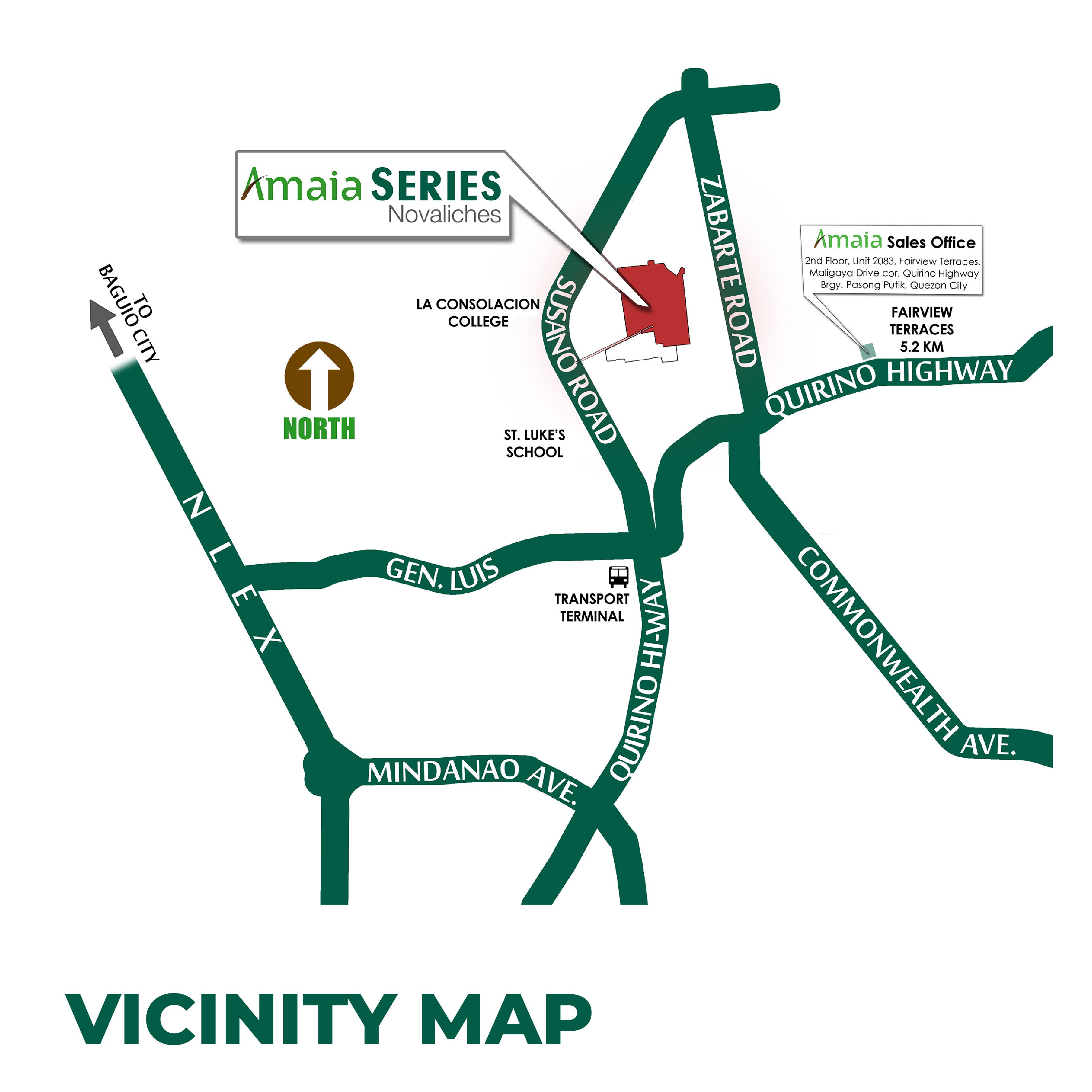 Amaia Series Novaliches Location